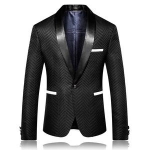 Other - Men Black Blazer Geometric Blazer